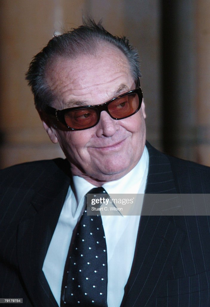 Jack Nicholson arrives at the UK film premiere of 'The Bucket List' at the Vue West End on January 23, 2008 in London, England.