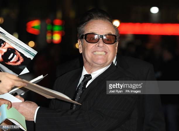 Jack Nicholson arrives for the UK Premiere of The Bucket List at the Vue West End London