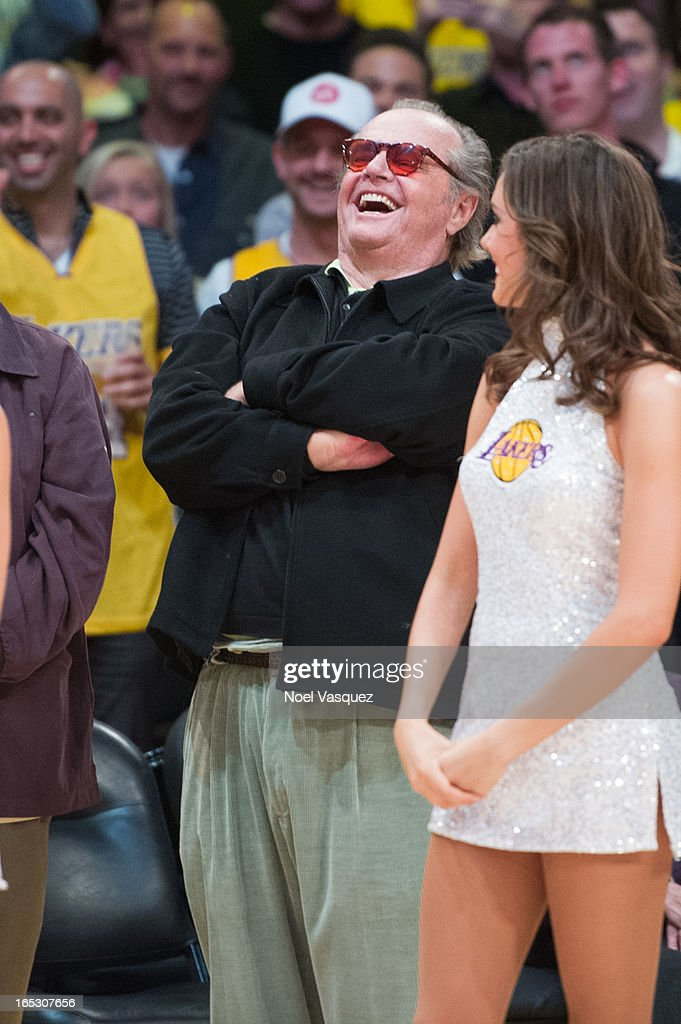 <a gi-track='captionPersonalityLinkClicked' href=/galleries/search?phrase=Jack+Nicholson&family=editorial&specificpeople=91177 ng-click='$event.stopPropagation()'>Jack Nicholson</a> attends a basketball game between the Dallas Mavericks and the Los Angeles Lakers at Staples Center on April 2, 2013 in Los Angeles, California.
