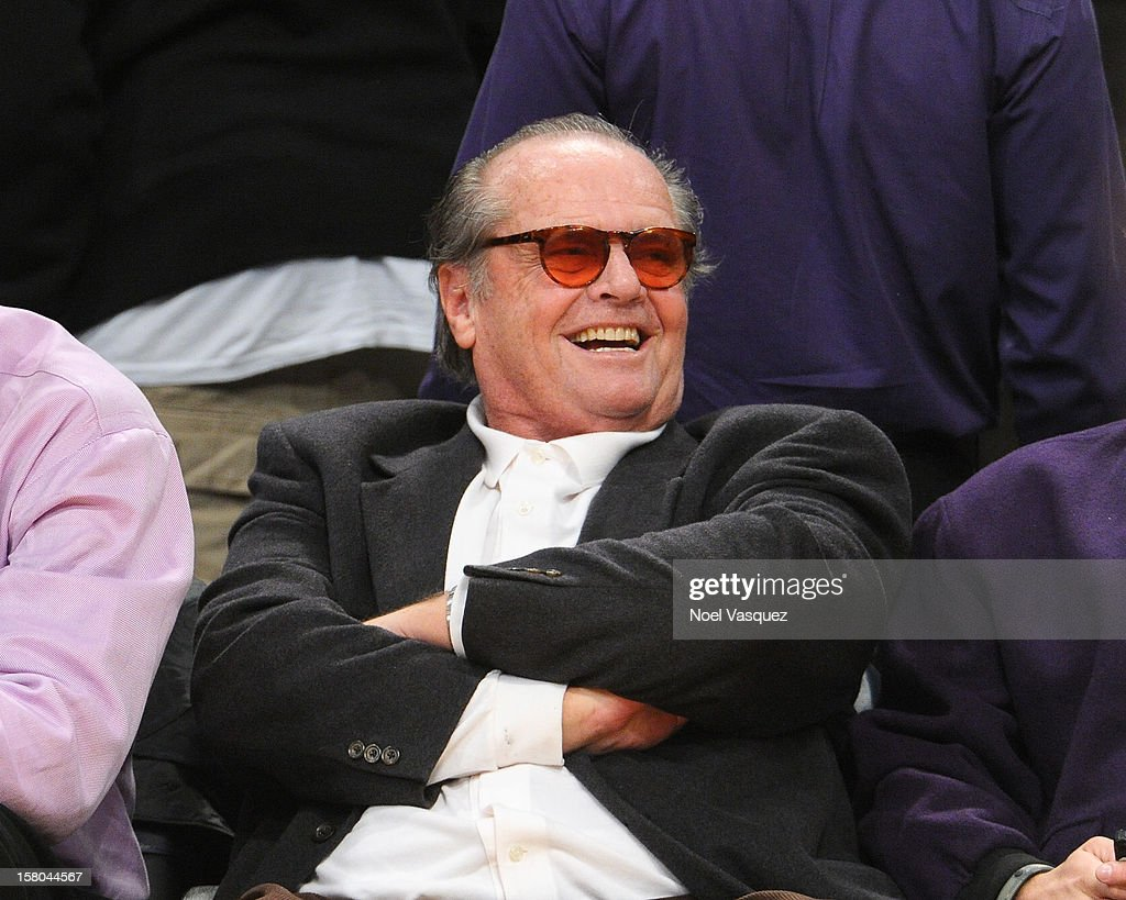 Jack Nicholson attends a basketball game between the Utah Jazz and the Los Angeles Lakers at Staples Center on December 9, 2012 in Los Angeles, California.
