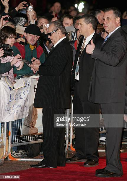 Jack Nicholson attends The Bucket List film premiere held at the Vue West End on January 23 2008 in London England