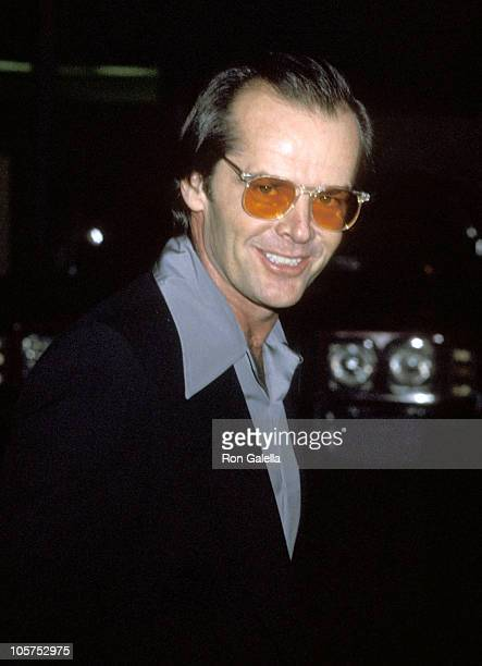 Jack Nicholson during 'Appearing Nightly' Premiere featuring Lily Tomlin January 31 1978 at Huntington Hartford Theater in Los Angeles California...