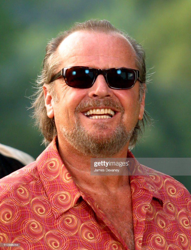 Jack Nicholson during Jack Nicholson, Adam Sandler, and Marisa Tomei on Location for 'Anger Management' at Central Park in New York City, New York, United States.