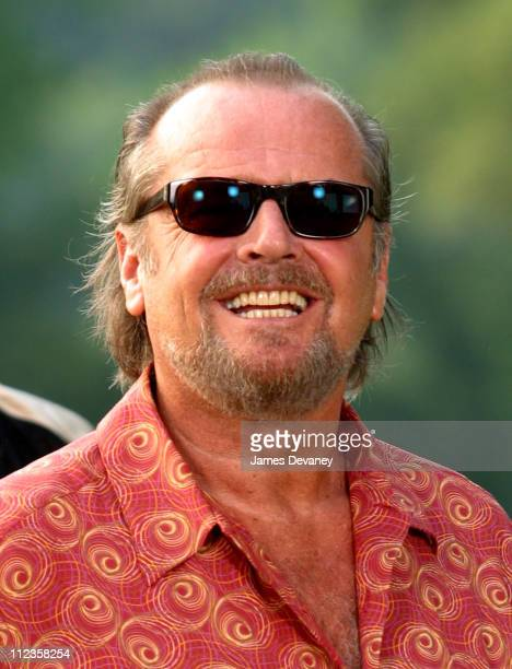 Jack Nicholson during Jack Nicholson Adam Sandler and Marisa Tomei on Location for 'Anger Management' at Central Park in New York City New York...