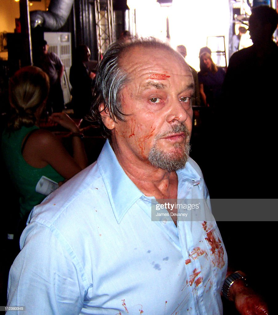 <a gi-track='captionPersonalityLinkClicked' href=/galleries/search?phrase=Jack+Nicholson&family=editorial&specificpeople=91177 ng-click='$event.stopPropagation()'>Jack Nicholson</a> during <a gi-track='captionPersonalityLinkClicked' href=/galleries/search?phrase=Jack+Nicholson&family=editorial&specificpeople=91177 ng-click='$event.stopPropagation()'>Jack Nicholson</a> on Location for 'The Departed' - June 7, 2005 at Soho in New York City, New York, United States.