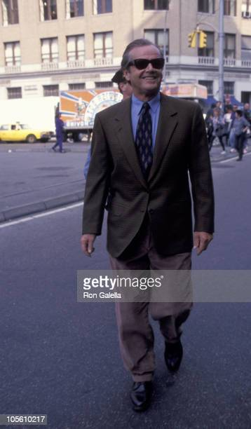 Jack Nicholson during Jack Nicholson on Location for 'Wolf' May 3 1993 at Greenwhich Village in New York City New York United States