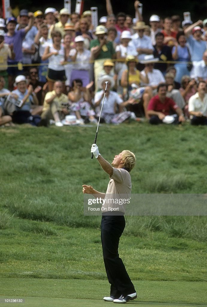 Jack Nicklaus in action June 1983 during the 1983 U.S. Open Championships at Oakmont Country Club in Oakmont, Pennsylvania in June 1983. Nicklaus finished the tournament tied for 43rd.