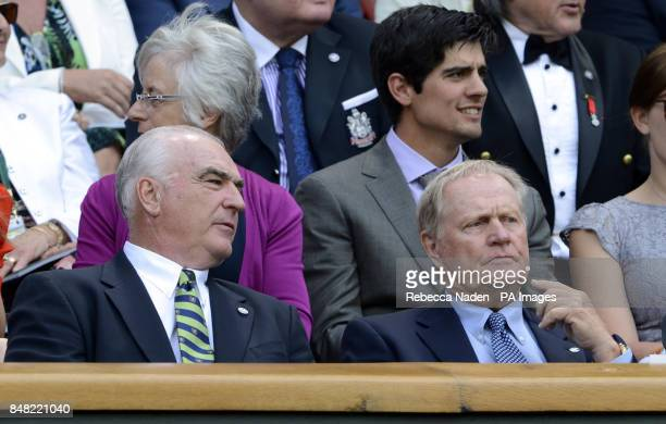 Jack Nicklaus in the Royal Box during day six of the 2012 Wimbledon Championships at the All England Lawn Tennis Club Wimbledon