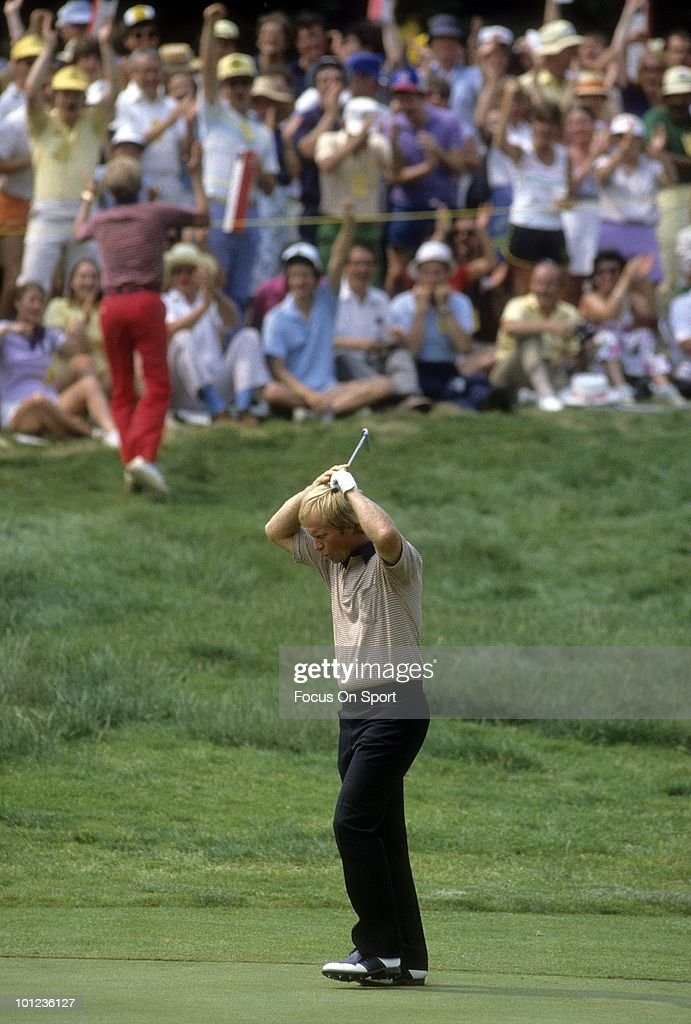 Jack Nicklaus in this portrait in the fairway June 1983 during the 1983 U.S. Open Championships at Oakmont Country Club in Oakmont, Pennsylvania in June 1983. Nicklaus finished the tournament tied for 43rd.