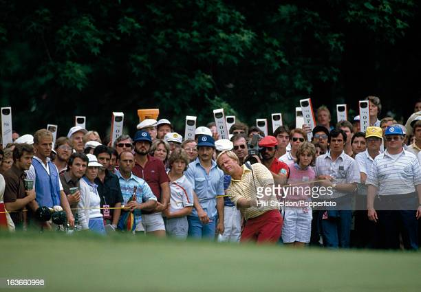 Jack Nicklaus of the United States in action during the US Open Golf Championship held at the Winged Foot Golf Club in Mamaroneck New York circa June...