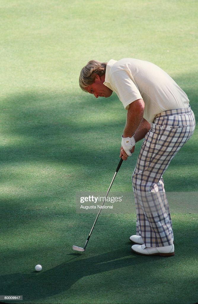 Jack Nicklaus Putts During The 1978 Masters Tournament