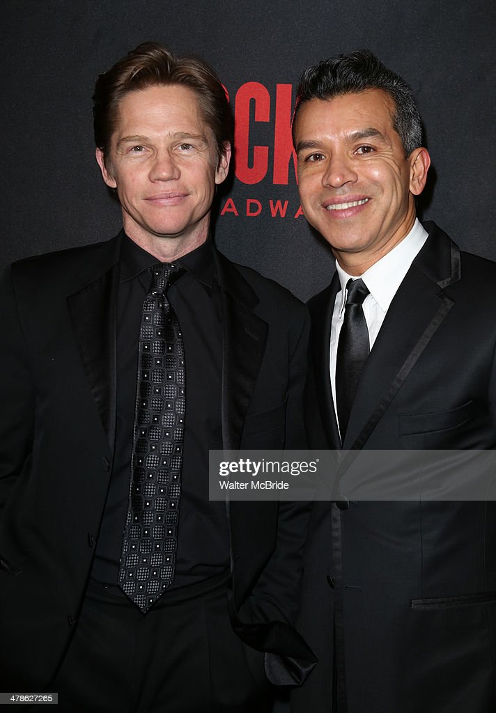 <a gi-track='captionPersonalityLinkClicked' href=/galleries/search?phrase=Jack+Noseworthy&family=editorial&specificpeople=862741 ng-click='$event.stopPropagation()'>Jack Noseworthy</a> and Sergio Trujillo attend the 'Rocky' Broadway Opening Night After Party at Roseland Ballroom on March 13, 2014 in New York City.