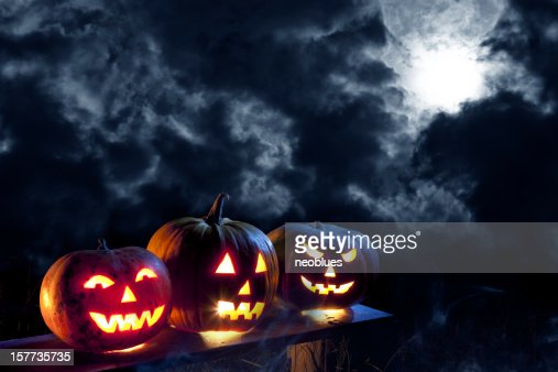 Jack O' Lantern in moonlight
