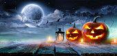 HalloweenPumpkins Burning Haunted Nigh