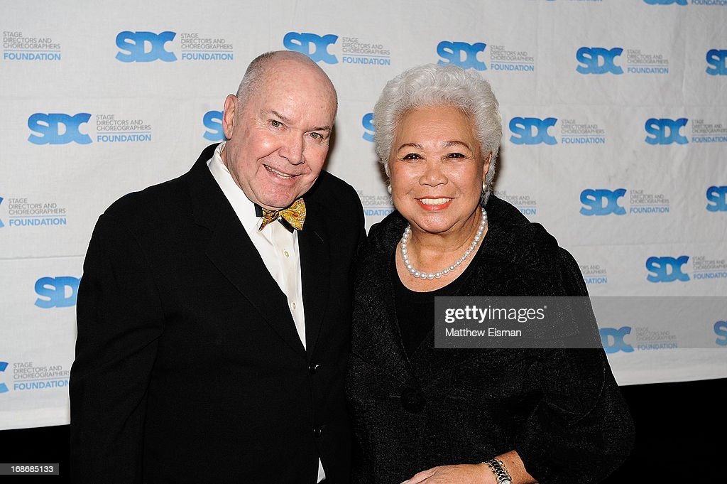 Jack O'Brien (L) and Joy Abbott attend the 2013 Mr. Abbott Award event at B.B. King Blues Club & Grill on May 13, 2013 in New York City.