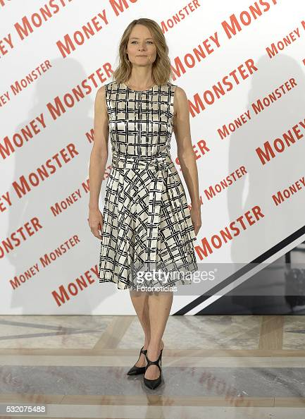 Jack O'Connell and Jodie Foster attend a photocall for 'Money Monster' at the Villamagna Hotel on May 18 2016 in Madrid Spain