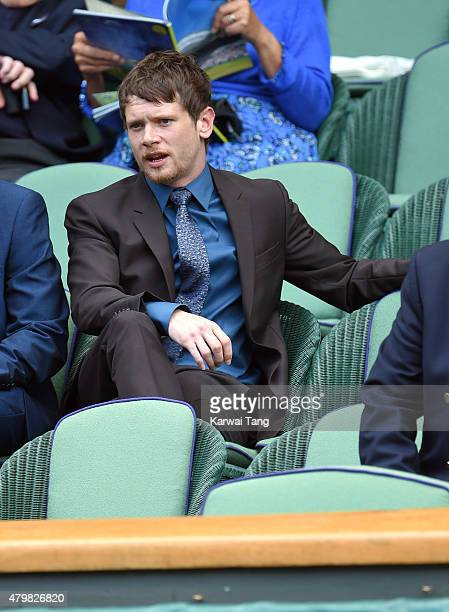 Jack O'Connell attends day eight of the Wimbledon Tennis Championships at Wimbledon on July 7 2015 in London England