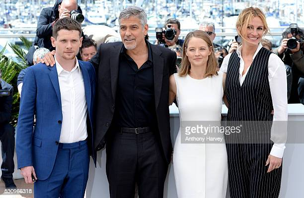 Jack O'Connell George Clooney director Jodie Foster and Julia Roberts attend the 'Money Monster' photocall during the 69th annual Cannes Film...