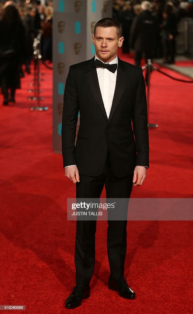 Jack O'Connell poses on arrival for the BAFTA British Academy Film Awards at the Royal Opera House in London on February 14, 2016. TALLIS