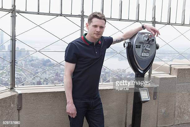 Jack O'Connell visits The Empire State Building in celebration of the new movie 'Money Monster' at The Empire State Building on May 9 2016 in New...