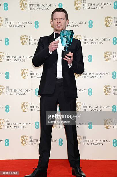 Jack O'Connell winner of the EE Rising Star award poses in the winners room at the EE British Academy Film Awards at The Royal Opera House on...