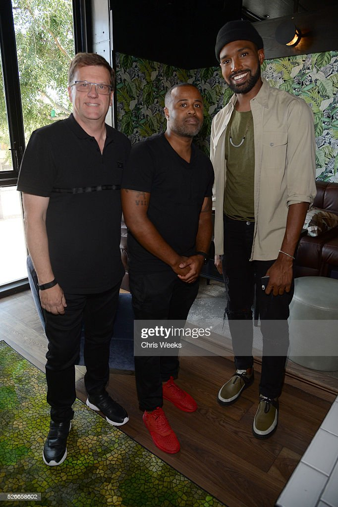 Jack Oerth, Vance Hayes, Patrick Buchanan attend Nick Jonas X Creative Recreation Sole Sessions at Doheny Roomon April 30, 2016 in West Hollywood, California.