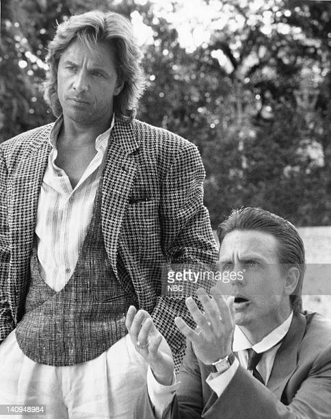 VICE 'Jack of all Trades' Episode 12 Pictured Don Johnson as Det James 'Sonny' Crockett David Andrews as jack Crockett Photo by NBCU Photo Bank