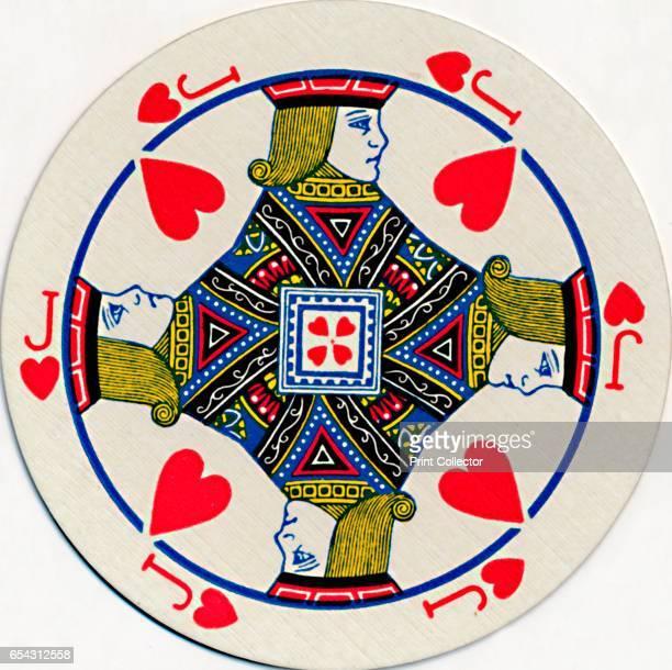 Jack of Hearts c1929 From CirQLar playing cards first edition [John Waddington Ltd Leeds London c1929] Artist Unknown