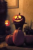 Jack o'-Lanterns At Night