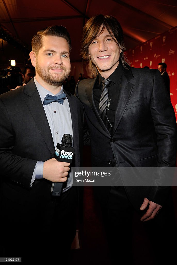 Jack Osbourne and Johnny Rzeznik attend MusiCares Person Of The Year Honoring Bruce Springsteen at Los Angeles Convention Center on February 8, 2013 in Los Angeles, California.