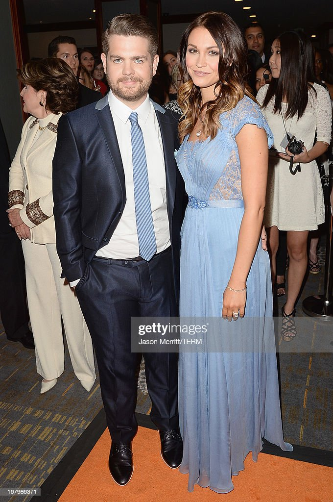 Jack Osbourne and Lisa Stelly attend the 20th Annual Race To Erase MS Gala 'Love To Erase MS' at the Hyatt Regency Century Plaza on May 3, 2013 in Century City, California.