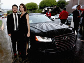 Jack Osbourne and Lisa Stelly attend the 23rd Annual Elton John AIDS Foundation Academy Viewing Party in an Audi A8 L TDI on February 22 2015 in Los...