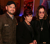 Jack Osbourne Sharon Osbourne and musician Ozzy Osbourne attend an evening of art with Billy Morrison and Joey Feldman benefiting the Rock Against MS...