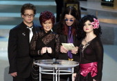 Jack Osbourne Sharon Osbourne Ozzy Osbourne and Kelly Osbourne present the Directing for a Variety Music or Comedy Program at the 54th Annual Emmy...
