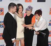 Jack Osbourne wife Lisa Stelly Kelly Osbourne and Sharon Osbourne arrive at the 22nd Annual Race To Erase MS at the Hyatt Regency Century Plaza on...