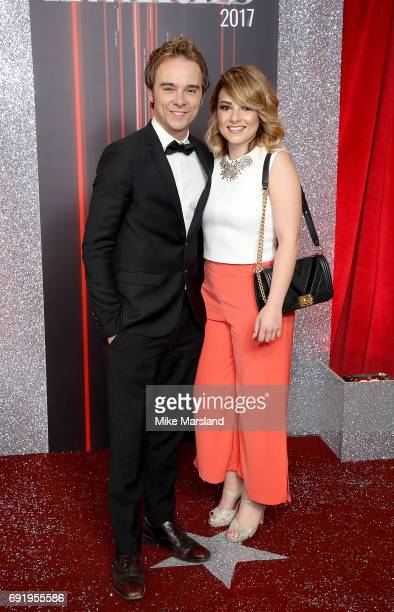 Jack P Shepherd and Lauren Shippey attend The British Soap Awards at The Lowry Theatre on June 3 2017 in Manchester England The British Soap Awards...
