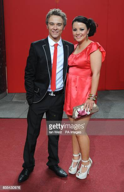 Jack P Shepherd Lauren Shippey arriving for the 2009 British Soap Awards at the BBC Television Centre Wood Lane London