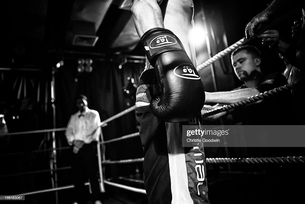 Jack Page in the ring during the Chessboxing 2012 Season Finale at Scala on December 8, 2012 in London, England.