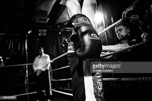 Jack Page in the ring during the Chessboxing 2012 Season Finale at Scala on December 8 2012 in London England