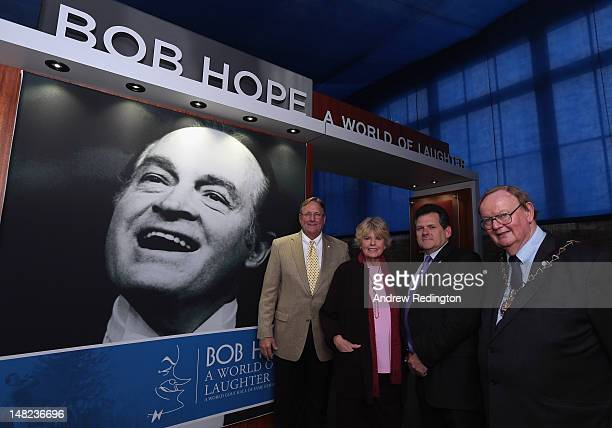 Jack Peter COO of The World Golf Hall of Fame Linda Hope daughter of Bob Hope Councillor Chris Roberts leader of The Royal Borough of Greenwich and...