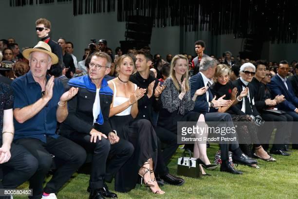 Jack Pierson Lambert Wilson Natasha Andrews Pierre Niney Louis Vuitton's executive vice president Delphine Arnault Owner of LVMH Luxury Group Bernard...