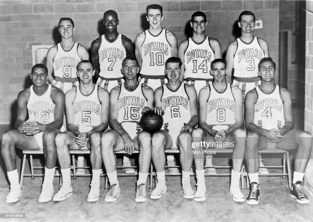 Jack Ramsay poses for a portrait with the Upper Darby High School basketball team circa 1942 in Upper Darby Township, Pennsylvania.