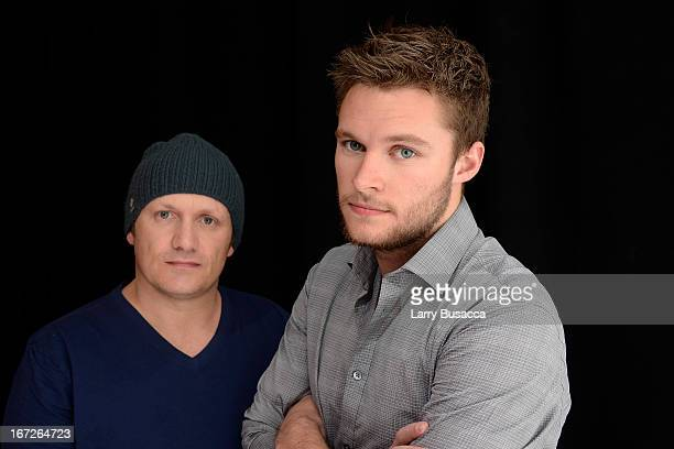 Jack Reynor actor and Lenny Abrahamson director of the film 'What Richard Did' pose at the Tribeca Film Festival 2013 portrait studio on April 23...
