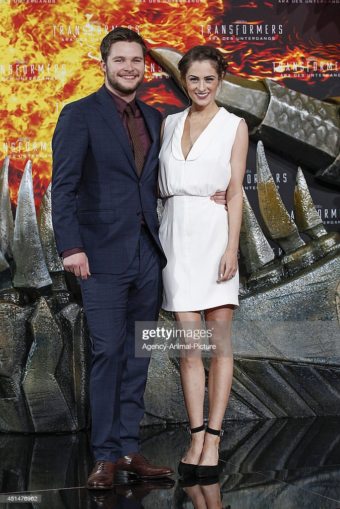 Jack Reynor and Madeline Mulqueen attend the 'Transformers Age of Extinction' Berlin Premiere on June 29 2014 in Berlin Germany
