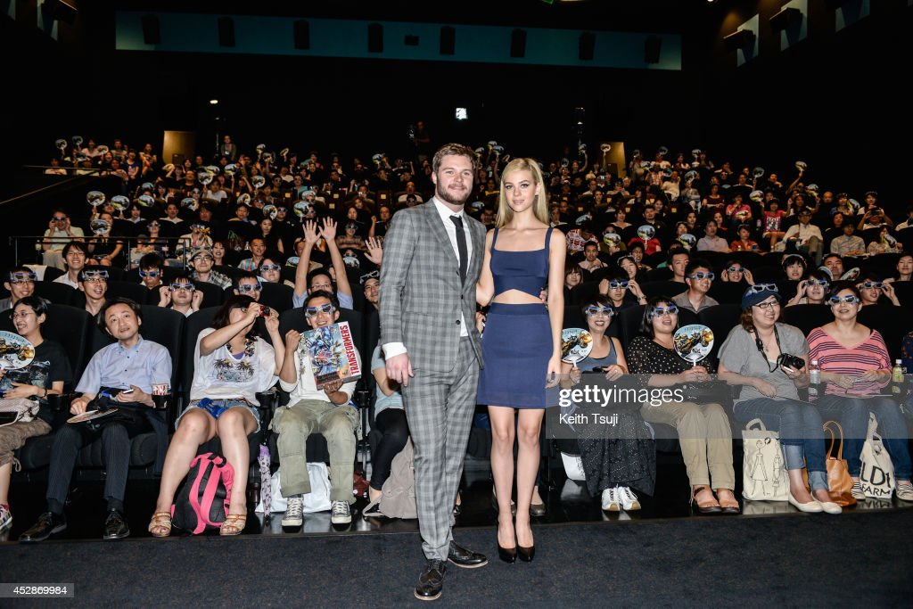 <a gi-track='captionPersonalityLinkClicked' href=/galleries/search?phrase=Jack+Reynor&family=editorial&specificpeople=10130487 ng-click='$event.stopPropagation()'>Jack Reynor</a> (L) and <a gi-track='captionPersonalityLinkClicked' href=/galleries/search?phrase=Nicola+Peltz&family=editorial&specificpeople=5306904 ng-click='$event.stopPropagation()'>Nicola Peltz</a> attend the Japan premiere of 'Transformers : Age Of Extinction' at the Toho Cinemas Nihonbashi on July 28, 2014 in Tokyo, Japan.