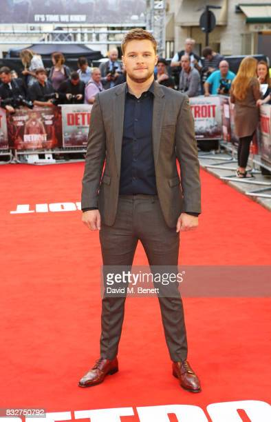 Jack Reynor attends the European Premiere of 'Detroit' at The Curzon Mayfair on August 16 2017 in London England