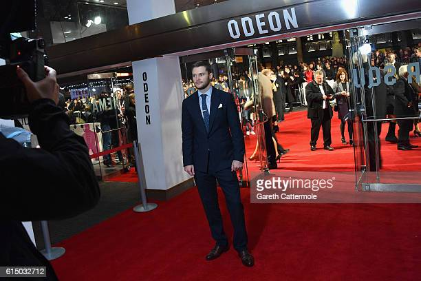Jack Reynor attends the 'Free Fire' Closing Night Gala screening during the 60th BFI London Film Festival at Odeon Leicester Square on October 16...