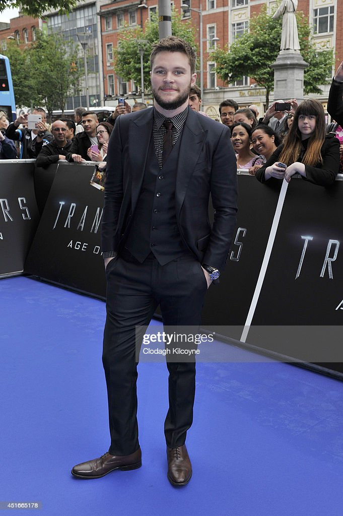 <a gi-track='captionPersonalityLinkClicked' href=/galleries/search?phrase=Jack+Reynor&family=editorial&specificpeople=10130487 ng-click='$event.stopPropagation()'>Jack Reynor</a> attends the Irish Premiere of 'Transformers 4: Age of Extinction' at Savoy Cinema on July 3, 2014 in Dublin, Ireland.