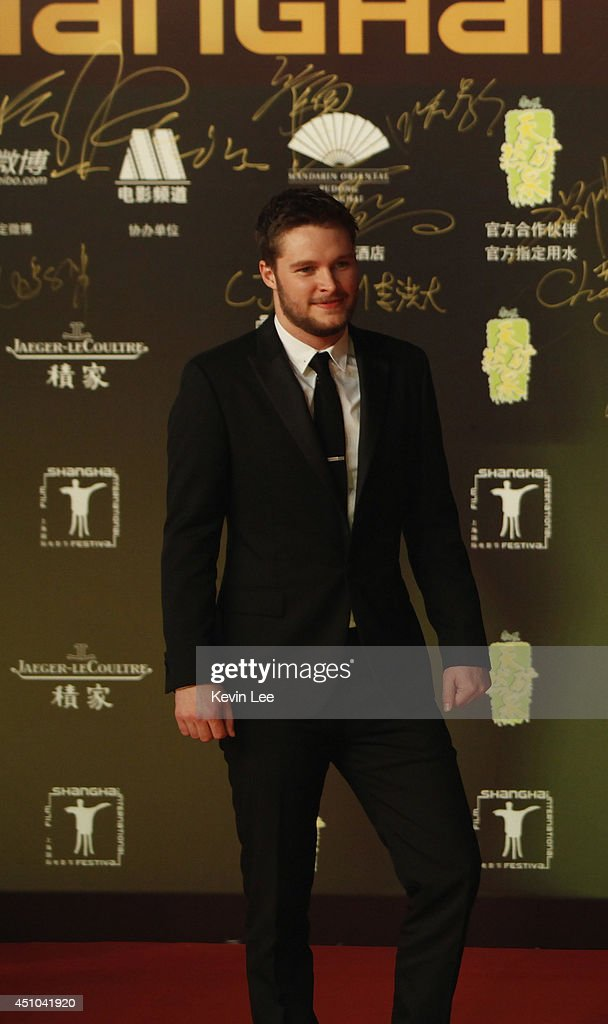 <a gi-track='captionPersonalityLinkClicked' href=/galleries/search?phrase=Jack+Reynor&family=editorial&specificpeople=10130487 ng-click='$event.stopPropagation()'>Jack Reynor</a> poses for a picture at the Shanghai premiere of 'Transformers' on June 22, 2014 in Shanghai, China.