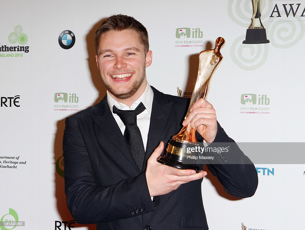 Jack Reynor poses in the Press Room after receiving the Best actor in film award for his role in 'What Richard Did' at the Irish Film and Television Awards at the Convention Centre Dublin on February 9, 2013 in Dublin, Ireland.